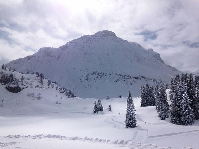 Austria Beauty In Nature Cloudy Landscape Mountain Skiing Snow Snowcapped Mountain Vorarlberg  Warth Wartherhorn Winter