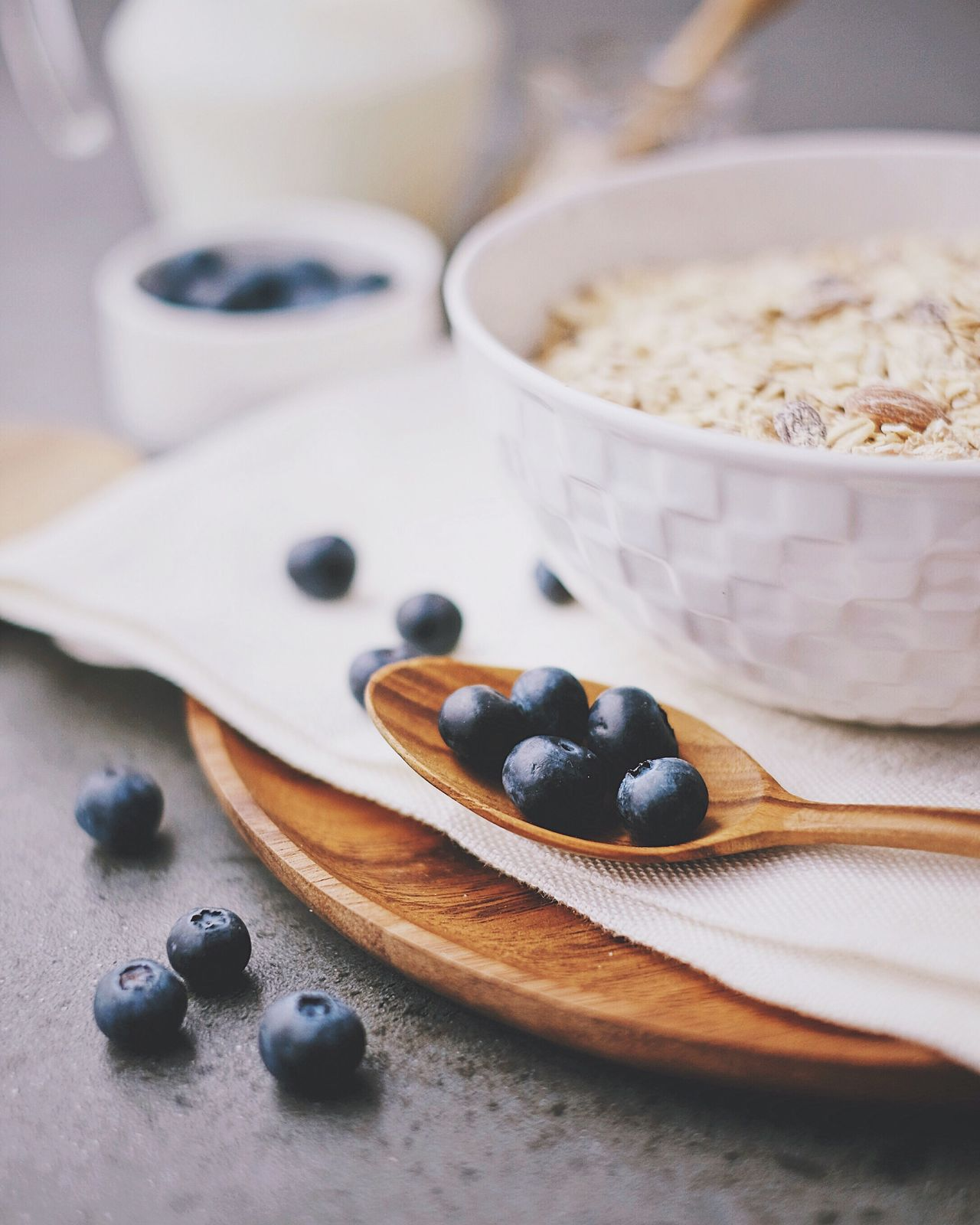 Food And Drink Food Bowl Blueberry Indoors  Still Life Table Fruit No People Ingredient Honey Freshness Healthy Eating Close-up Dessert Ready-to-eat Day Granola Breakfast Morning Foodphotography Foodie Healthy Food Healthy Lifestyle Milk