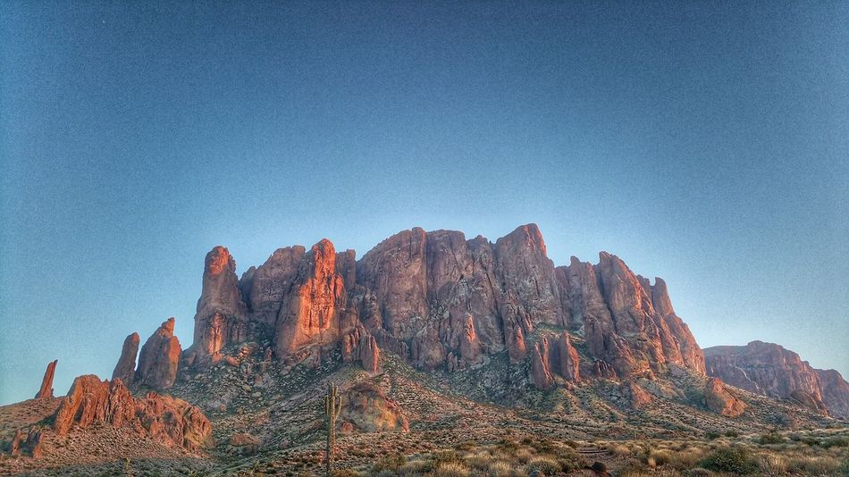 Mountain Nature Outdoors Blue Sky Beauty In Nature No People Day Rock - Object Scenics Low Angle View Sunset Superstition Mountains AZ Apache Junction The Great Outdoors - 2017 EyeEm Awards EyeEmNewHere