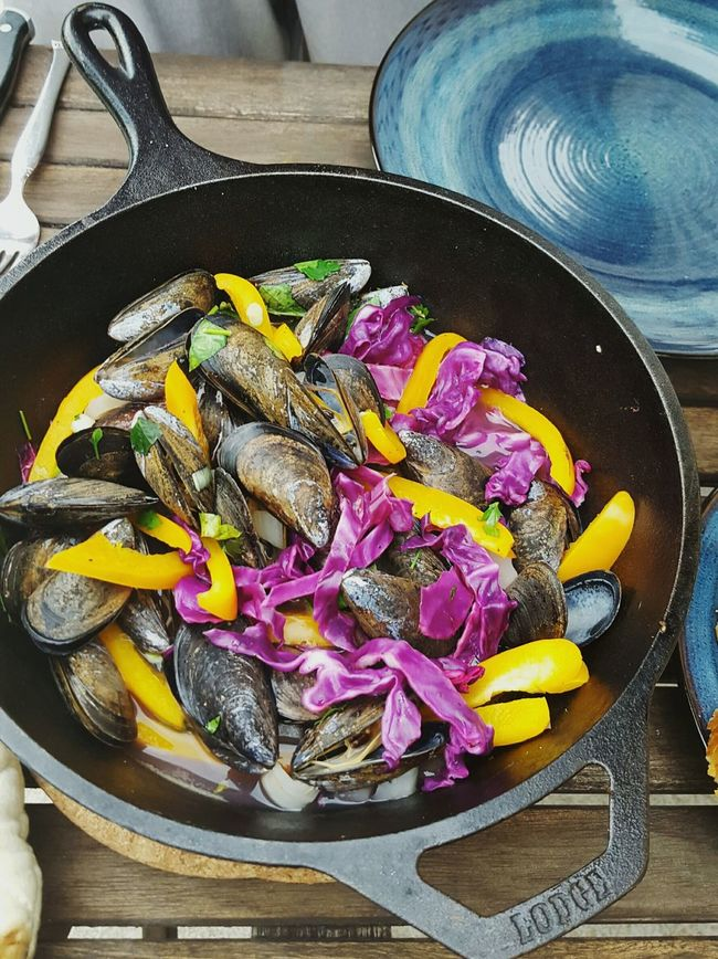 Colour Of Life Colourful Food Color Of Life Colorful Food Mussels In Pan Mussels Summer Food Summer Eating Tasty Food Mussels Mussel Shell Seafood Seafood Dinner Homemade Food Home Is Where The Art Is
