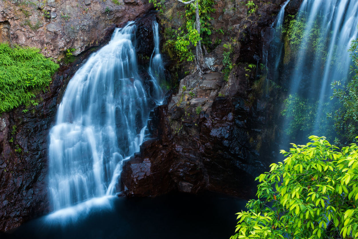 Australia Beauty In Nature Cliff Day Flowing Flowing Water Litchfield National Park Long Exposure Motion Natural Landmark Nature Non-urban Scene Purity Rock Rock - Object Rock Formation Rocky Scenics Tranquil Scene Tranquility Water Waterfall