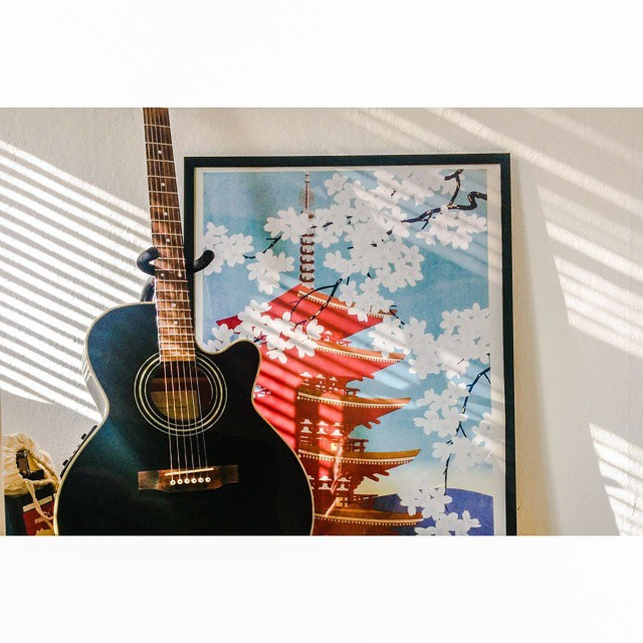 guitar, music, arts culture and entertainment, musical instrument, acoustic guitar, musical instrument string, no people, indoors, electric guitar, fretboard, day