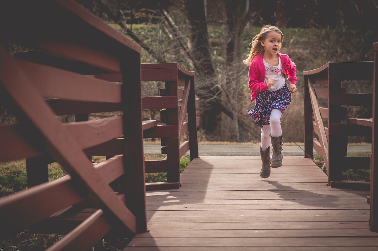 Child Childhood Children Play Run Outdoors Nature Girl