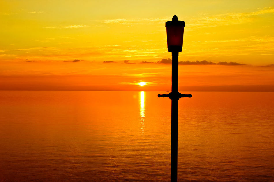 Sunset Post! Beauty In Nature Calm Horizon Over Water Idyllic Nature No People Ocean Orange Color Orange Sky Outdoors Scenics Sea Silhouette Sky Summer Sun Sunset Tranquility Water