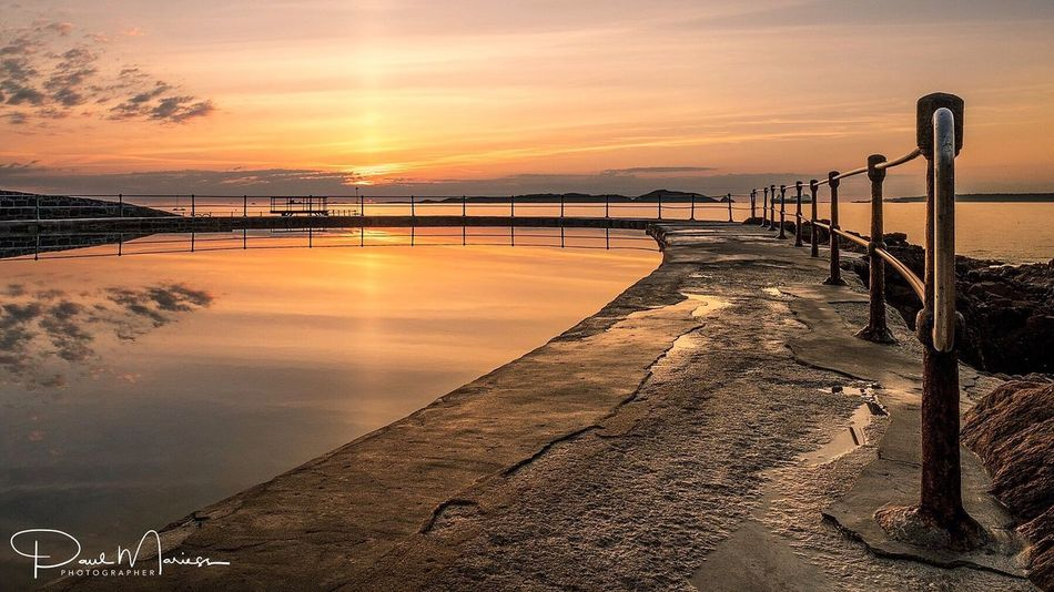 Morning Glory Water Nature Sky Tranquility Outdoors Scenics Beauty In Nature Eye4photography  Eyem Best Shots Reflection Sea And Sky Landscape_Collection Guernsey Symmetry Sunrise Sunrise_Collection Dawn Landscape_photography