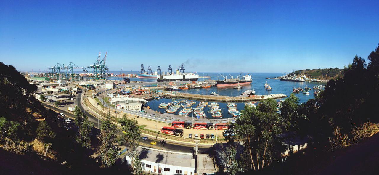 Port San Antonio De Chile San Antonio Vessels In Port Vessel Ship Industrial Industrial Landscapes Urbanphotography Urban Sea View Sea And Sky Chile Panorama Panoramic Panoramic Photography 180°