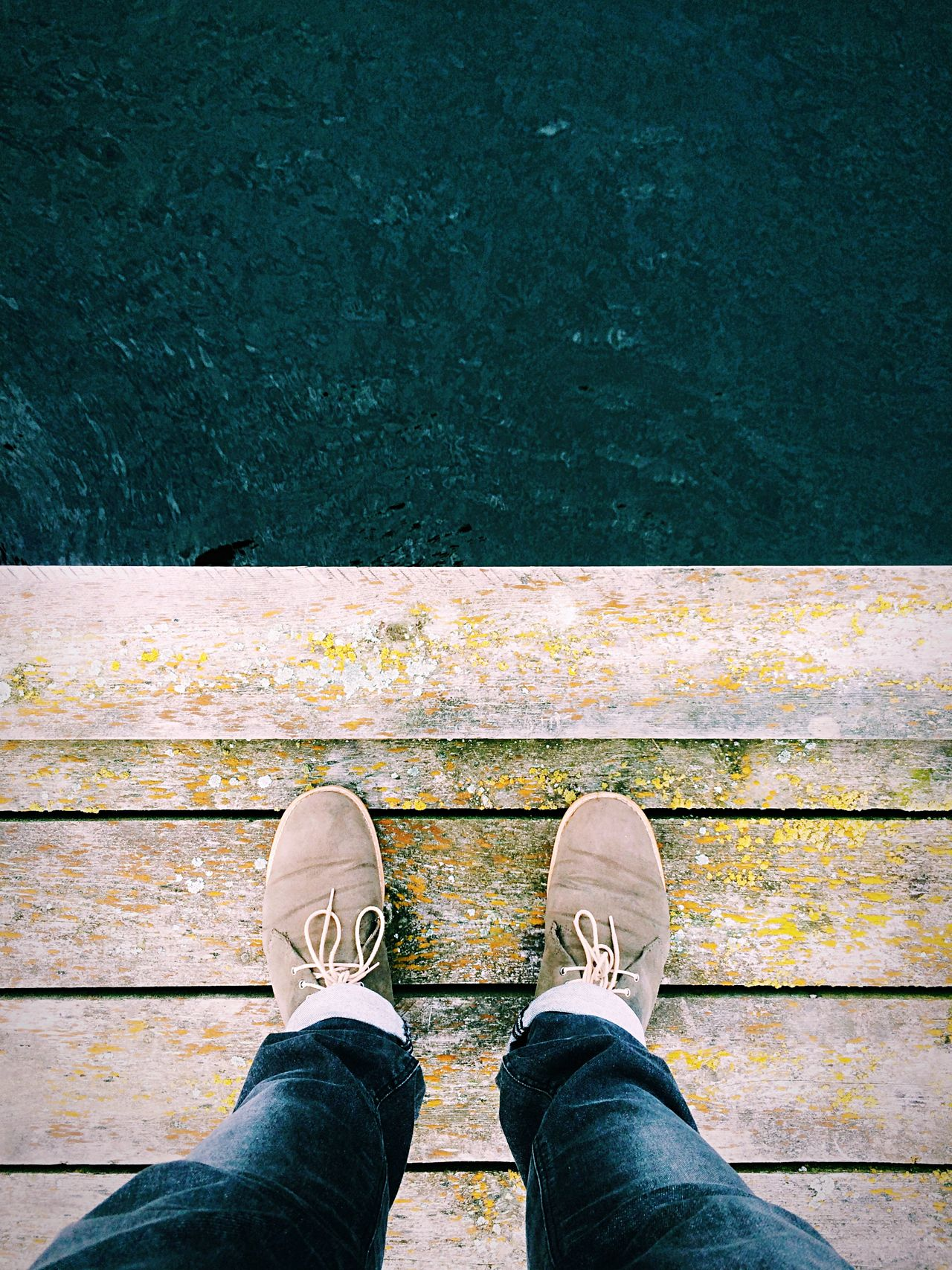 Do not jump in the water! Water_collection Feet Shoes EyeEm Best Shots Lines Docks