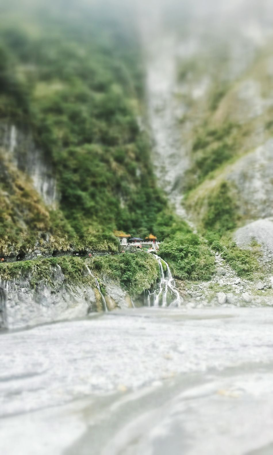 Waterfall.. Waterfall Water Miniature Nature Beauty In Nature Peaceful House Small World Cool Mood  Nature Is Art FAR AWAY Phonecamera
