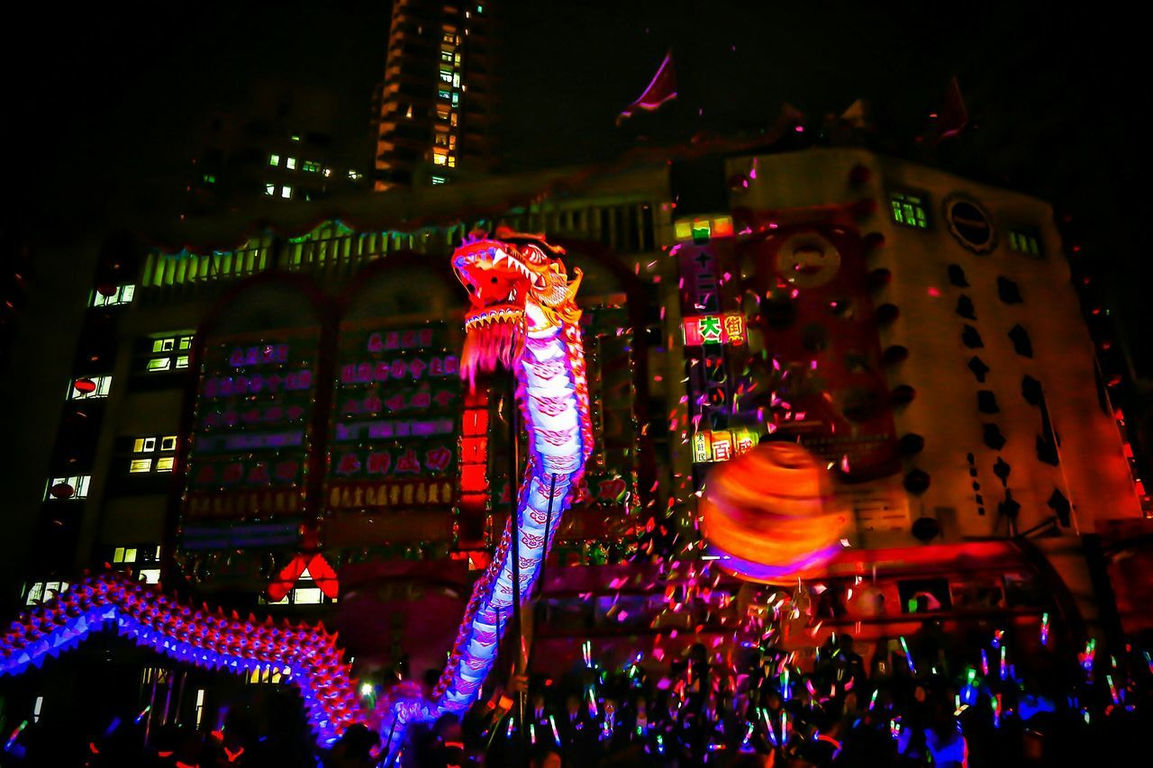 龍佑蒼生 瑞氣年年 Tai Kok Tsui Temple Fair 2016 Luminous Night Dragon Dance 2016 Nightlights Night Lights, City Night Lights, Cityscapes, Motion Blur, Light And Shadow Capture The Moment Night Photography Street Photography Lowlightphotography Lowlight Night Lights Tai Kok Tsui EyeEm Gallery Learn & Shoot: After Dark Hong Kong Cities At Night