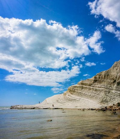 Scala Dei Turchi Agrigento Sicily Italy Travel Photography Travel Voyage Traveling Mobile Photography Fine Art Scenic Landscapes Landscapes With WhiteWall Blue Wave Nature Shorelines Cliffs Rocks Sea Reflections Sky Clouds Mobile Editing Showcase April