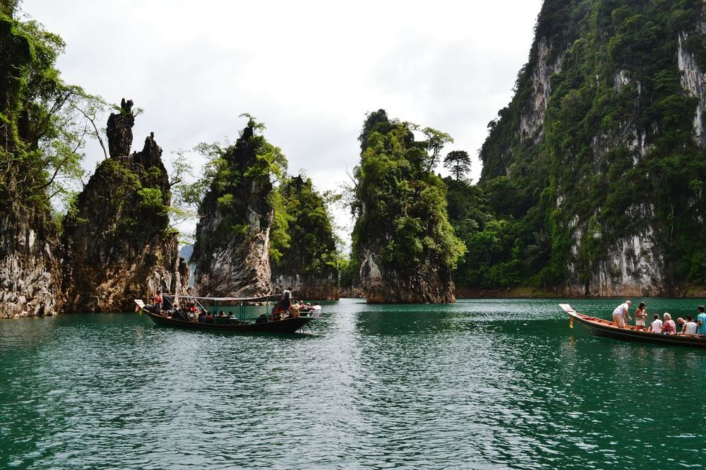 Nautical Vessel Tree Water Transportation Vacations River Outdoors Day Nature Large Group Of People People Sky Rock Face Beauty In Nature Travel Destinations Nature Scenics Mountain Relaxing Time Ratchaprapa Dam กุ้ยหลินเมืองไทย Travel Relaxing Moutain Lake