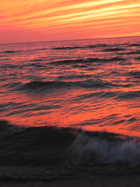Labor Day weekend in Pent Water Michigan End Of The Day Lake Michigan Lost In The Landscape Beach Beauty In Nature End Of Summer Horizon Over Water Motion Nature No People Orange Color Outdoors Power In Nature Scenics Sky Sunset Tranquil Scene Water Wave