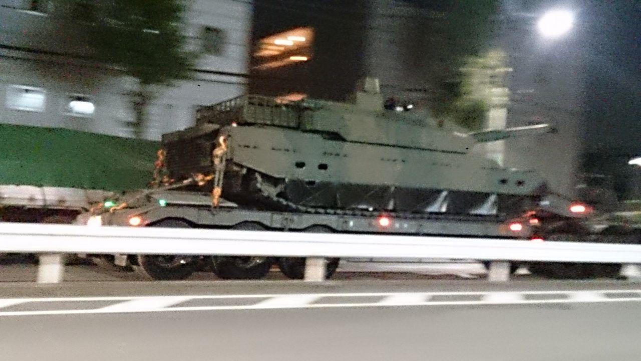 Nerima Night Olive Drab Green Road Self-defence Force Tank Tokyo,Japan Transportation