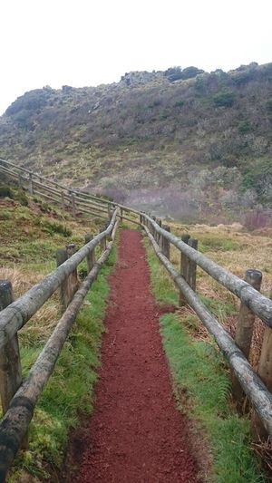 Diminishing Perspective Footpath Landscape Nature Path No People Pathway Red Ground The Way Forward Tranquil Scene Tranquility Volcanic Island Walkway