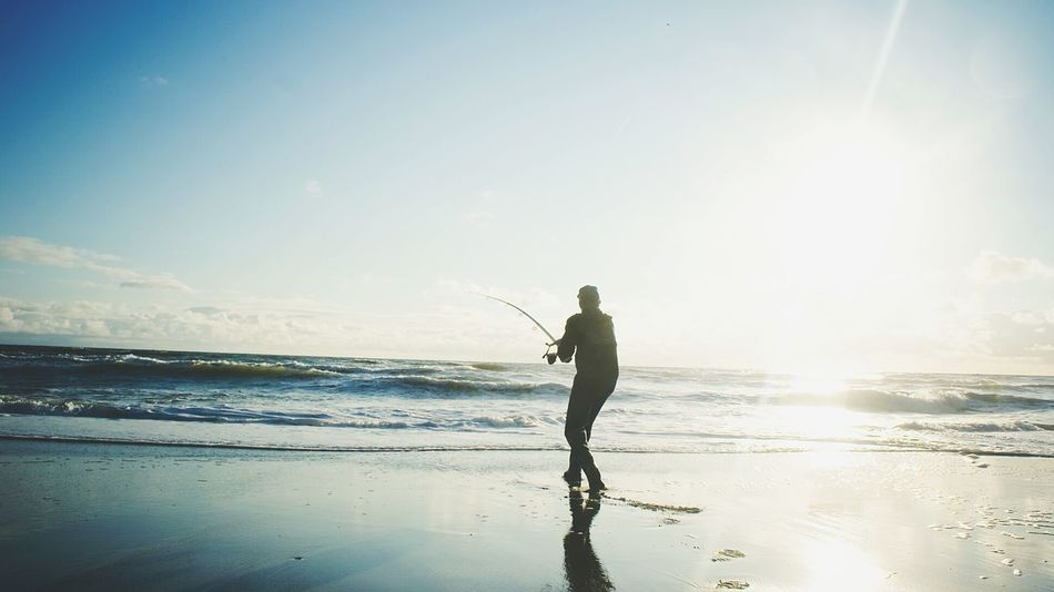 Beautiful stock photos of fishing, Bright, Brightly Lit, Cloud - Sky, Enjoyment