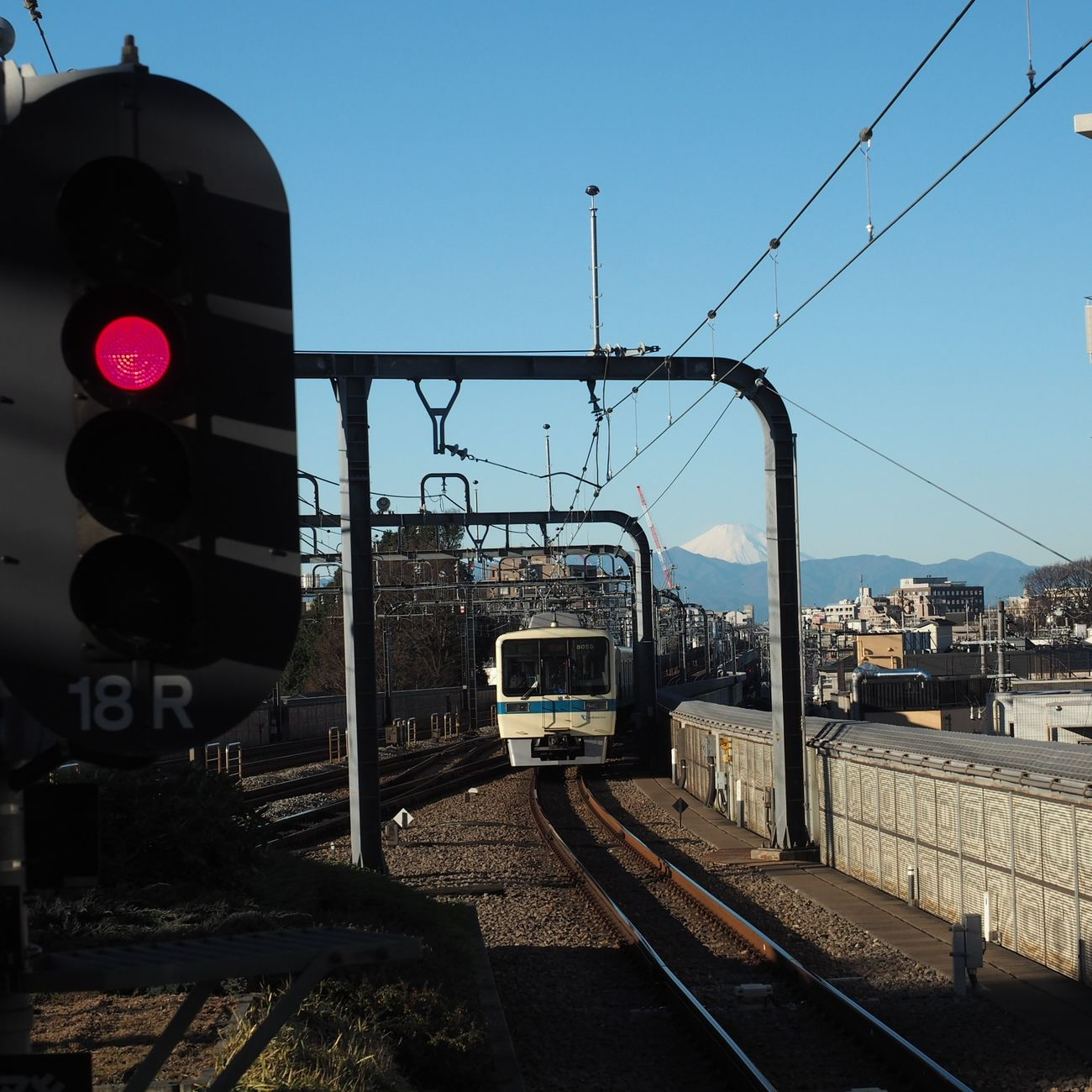 Transportation Rail Transportation No People From My Point Of View Winter Stationphotography Fineday Mt.Fuji Feeling Good