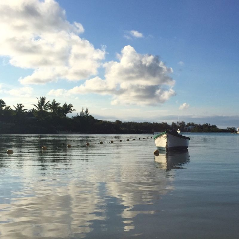 IPS2016Landscape Sea And Sky Coastal Life Golden Hour ReflectionPerfection! Travel Photography Reflection IPhone Iphonephotography Mauritius Cloudporn