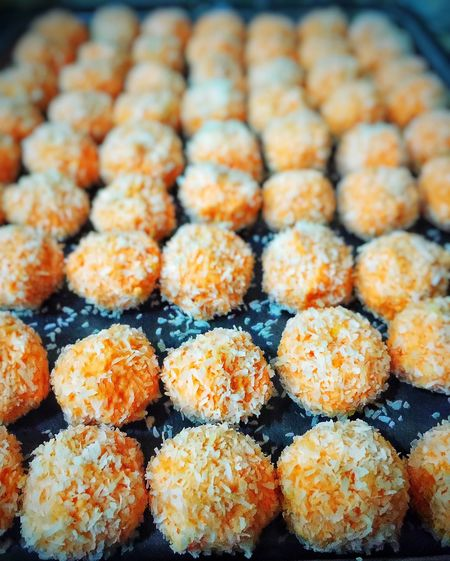 Snow Ball Cookies Magic Orange Cookies Cookies Delicious Perspective Orange Colour Close Up Hobby Shop Around The Corner Home Made Food Food Arranged Objects Dry Coconut Orange Chocholate Cookies