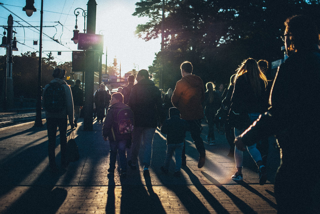street, road, large group of people, city, outdoors, people, day, adult