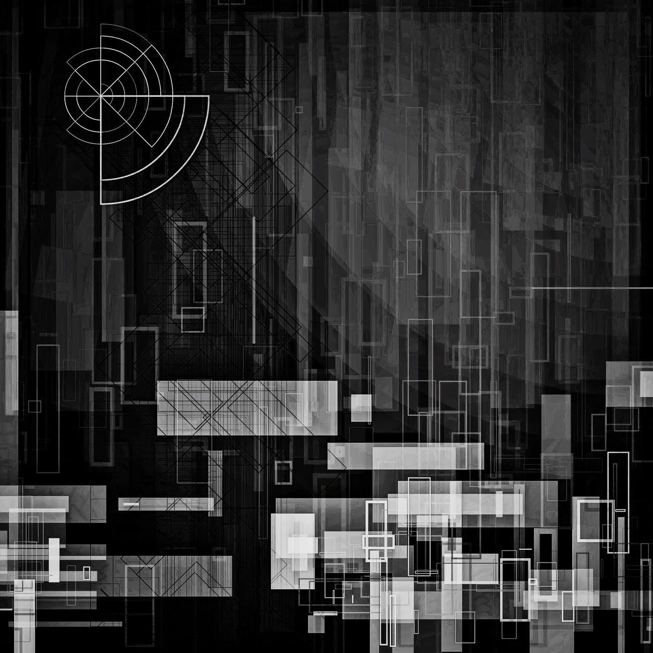 Abstract Black & White Geometric Abstraction Monochrome Blackandwhite Photography Geometric Geometric Shapes Digital World Blackandwhite Black And White