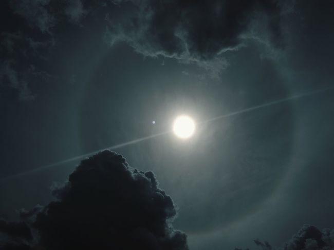 Sun Halo Outdoors No People Beautiful Sky Circle