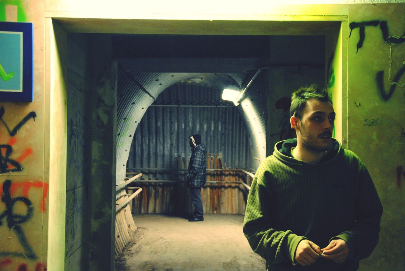 Taking Photos Boys Underground Station Alternative Chilling State Of Mind  Darkside Photoshoot