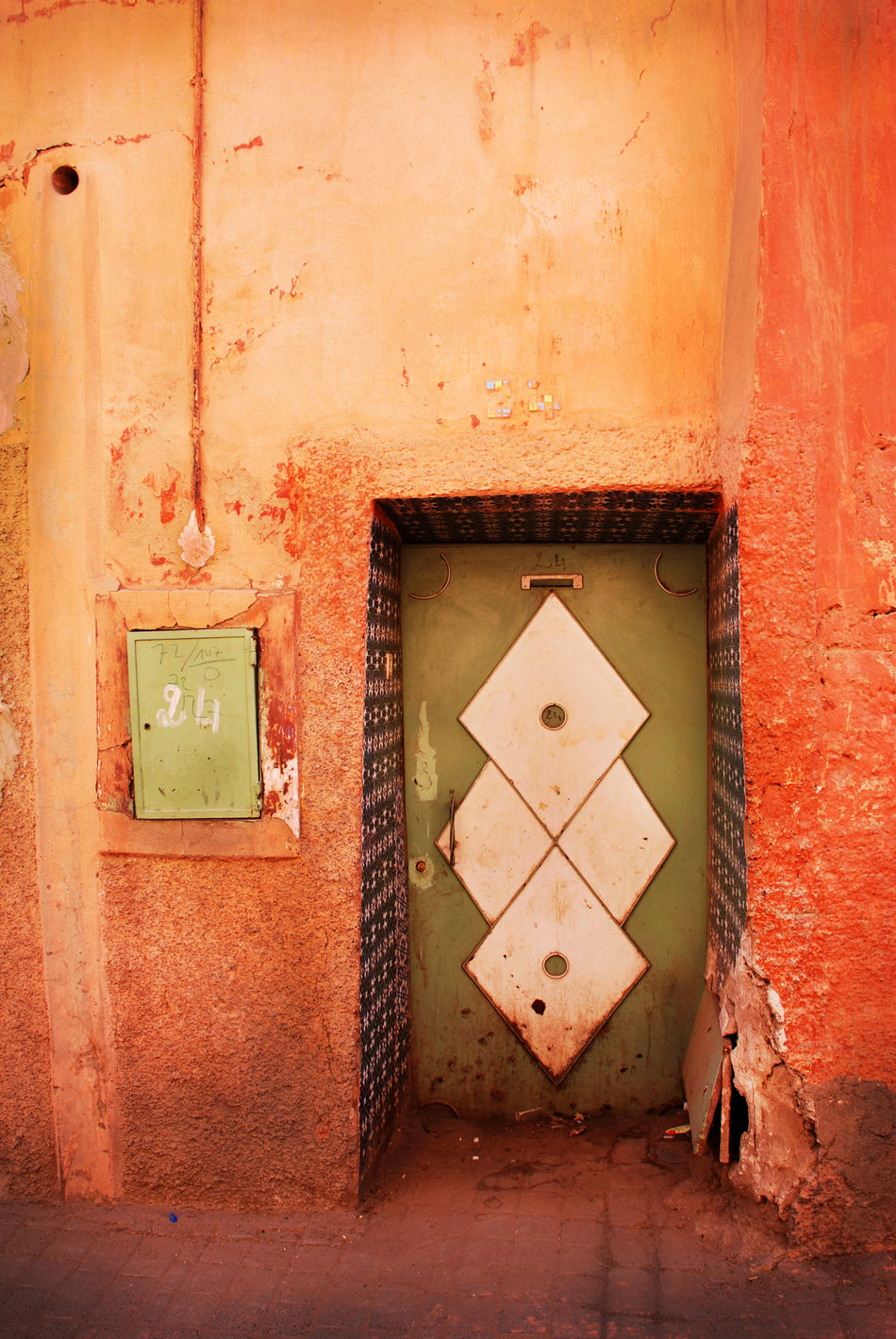Architecture Building Exterior Built Structure Door Electricity  Marrakech Morocco Orange Color Travel Destinations Travel Photography