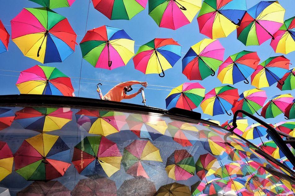 Streetphotography Streetsincolor Umbrellas Reflection Patterns Colorwheel Colorful Umbrellas First Eyeem Photo The Week Of Eyeem EyeEm Gallery EyeEm Best Shots EyeEm EyeEmBestPics Eyeem Philippines Eyeemphotography Street Photography The Week On EyeEm