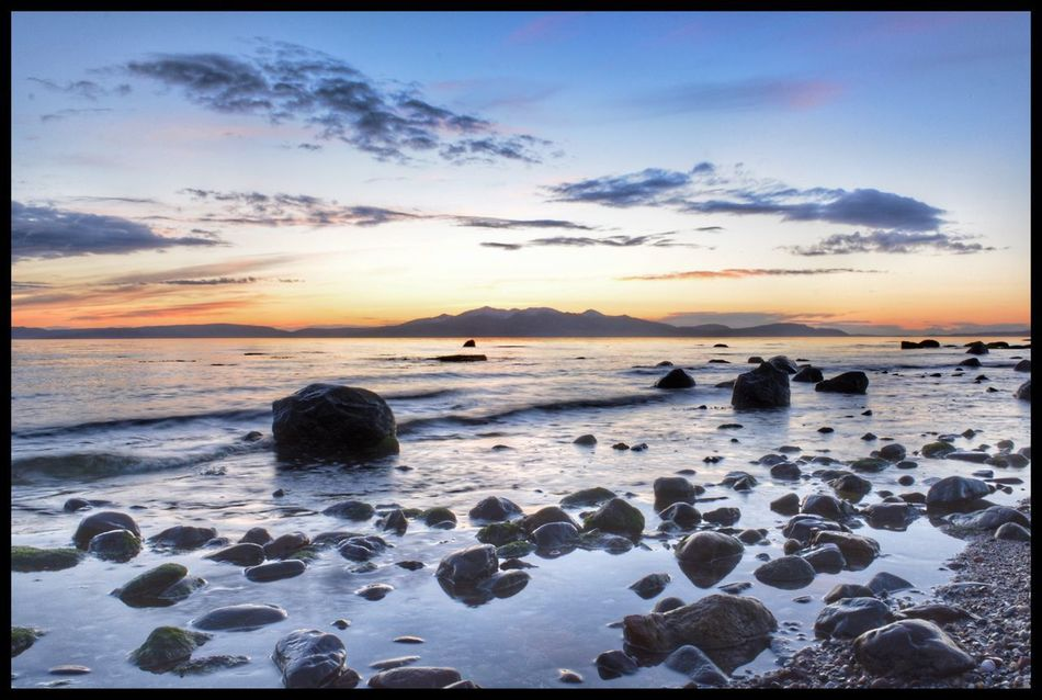Isle Of Arran  from Ardrossan Sea Sky Beach Water Nature Sunset Tranquil Scene Beauty In Nature Tranquility Horizon Over Water Scenics Outdoors No People Sand Wave Day Eye4photography  Eyemphotography EyeEm Best Shots EyeEmBestPics EyeEm Gallery EyeEm Eyeemphotography