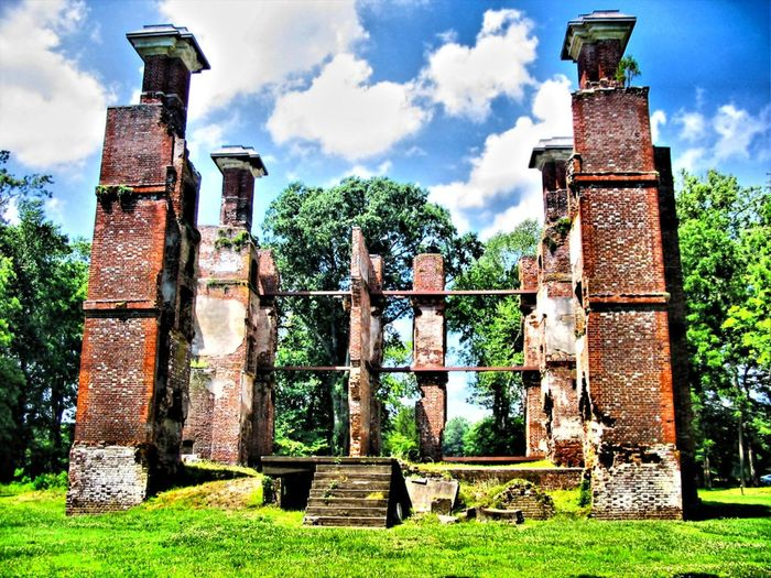 The Ruins of Rosewell Architectural Column Architecture Building Exterior Built Structure Cloud Cloud - Sky Cloudy Day Façade Field Grass Grassy Green Color Historical Building History Lawn Low Angle View No People Old Outdoors Rosewell Mansion Ruin Sky The Past