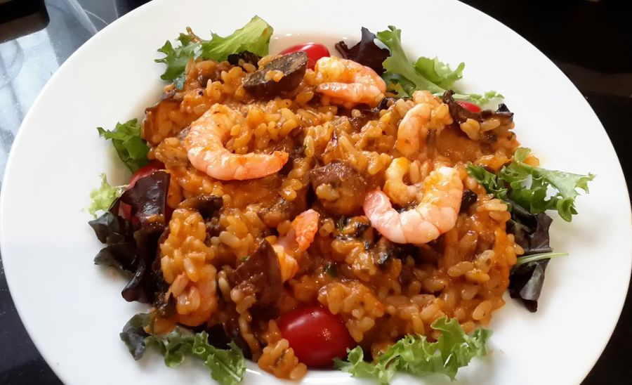 Mushroom and prawn risotto Enjoying Life Relaxing Somerset England Streamzoofamily Streamzoofamily Friends TheVille Out Of My Cauldron SZeaglesoul