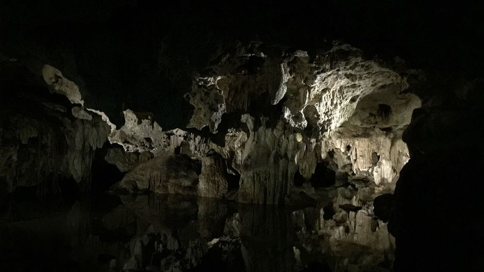 Cave Stalactite  Geology Nature Rock Formation Rock - Object Physical Geography Indoors  Beauty In Nature Travel Destinations Limestone Formation Water No People Day Cenotes Monkey Sanctury Acumal, Mexico
