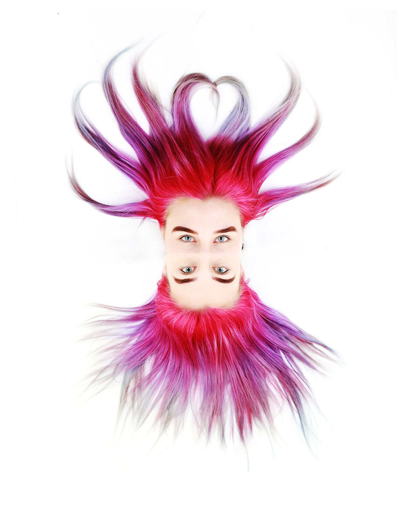Hair Octopus Beautiful People Beautiful Woman Beauty Fashion Fashion Glamour Hair Make-up One Person One Woman Only Only Women People Pink Color Portrait Red Reflection Studio Surrealism Symmetry White Background Women Young Adult