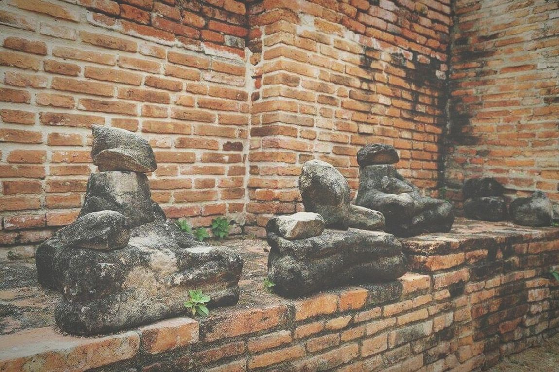 Brick Wall Close-up Outdoors Nature Travel Beauty In Nature Architecture Traditional Architecture Temple In Thailand Ayuttayaprovince