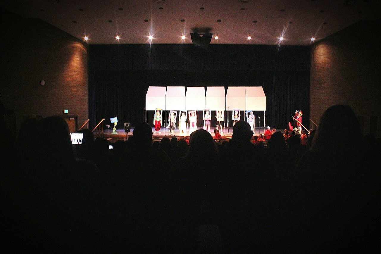 Arts Culture And Entertainment Stage - Performance Space Large Group Of People Illuminated Performing Arts Event Auditorium Audience Childsplay Schoolproject School Play 3rd Grade
