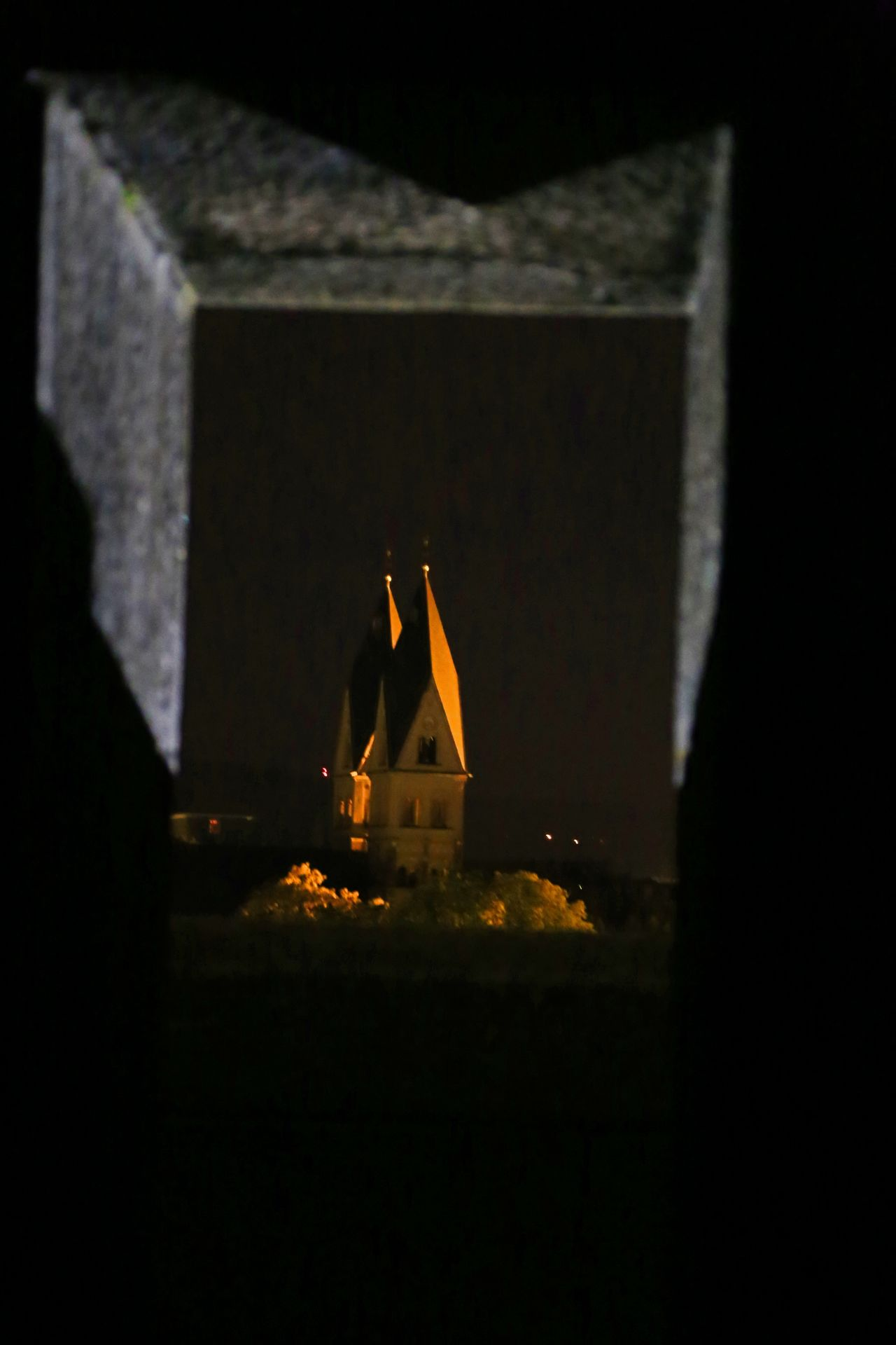 Church Church Towers Illuminated Illumination Indoors  Night No People Perspective Window