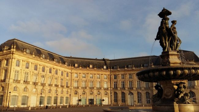 Morning Sky Famous Place No People Monument Town Square Place De La Bourse Bordeaux Tranquil Scene Façade Outdoors Old Town Fountain Battle Of The Cities