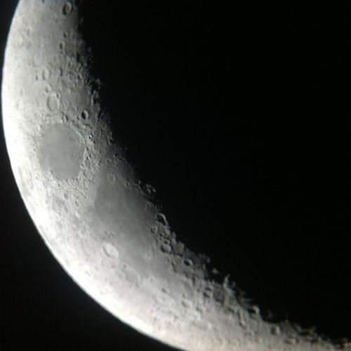 This image of the moon captured by the telescope today in South Sinai :) it was amazing
