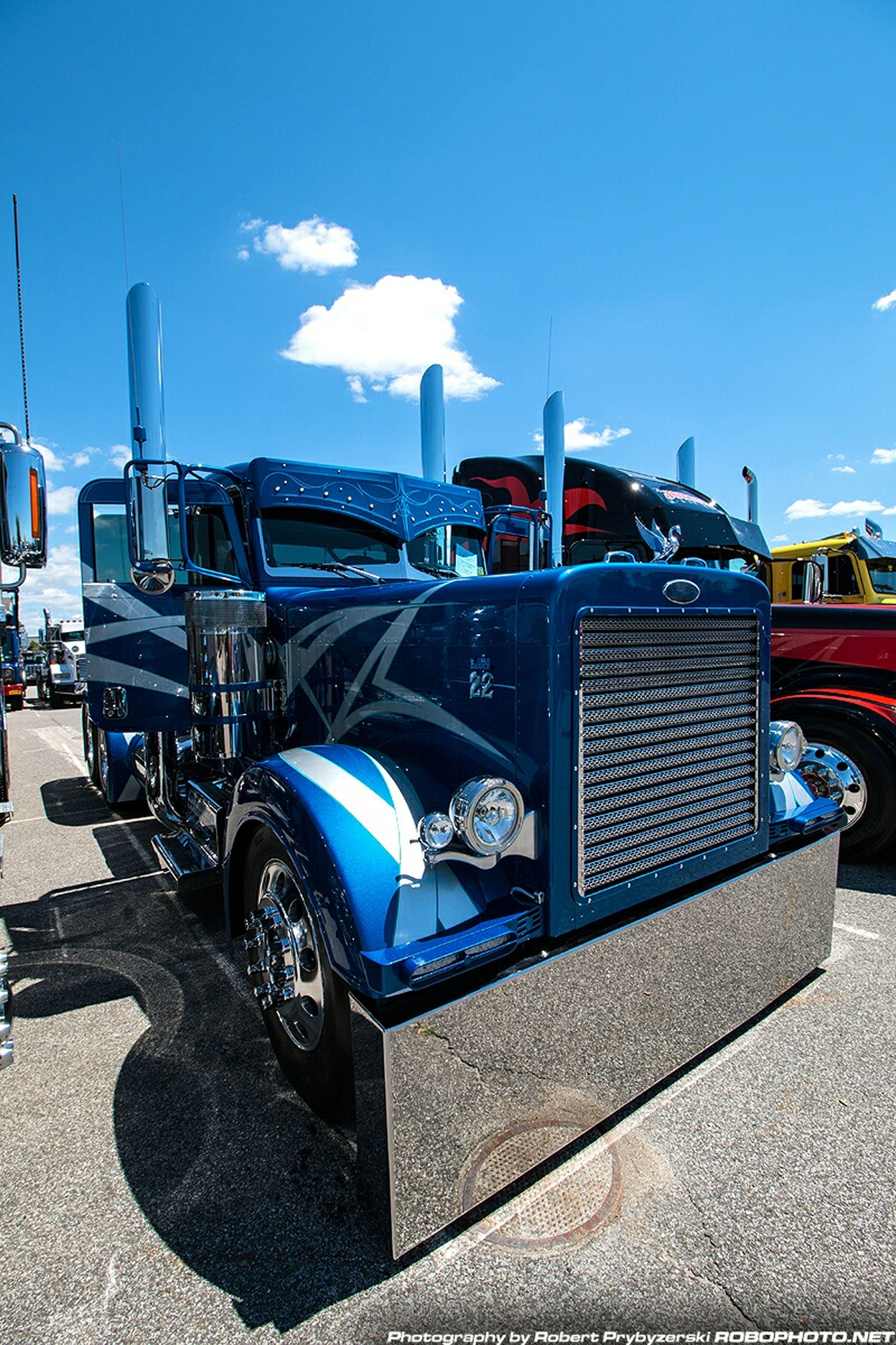 One Stop Customs Truck Show, Blueprint Peterbilt Trucking Custom Trucks Taking Photos