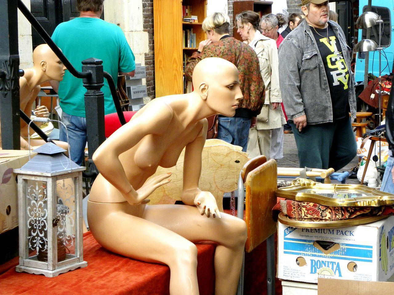 Statue Lifestyles People Sculpture Outdoors Fleamarket Flea Markets Amsterdam City Amsterdam Amsterdam Life