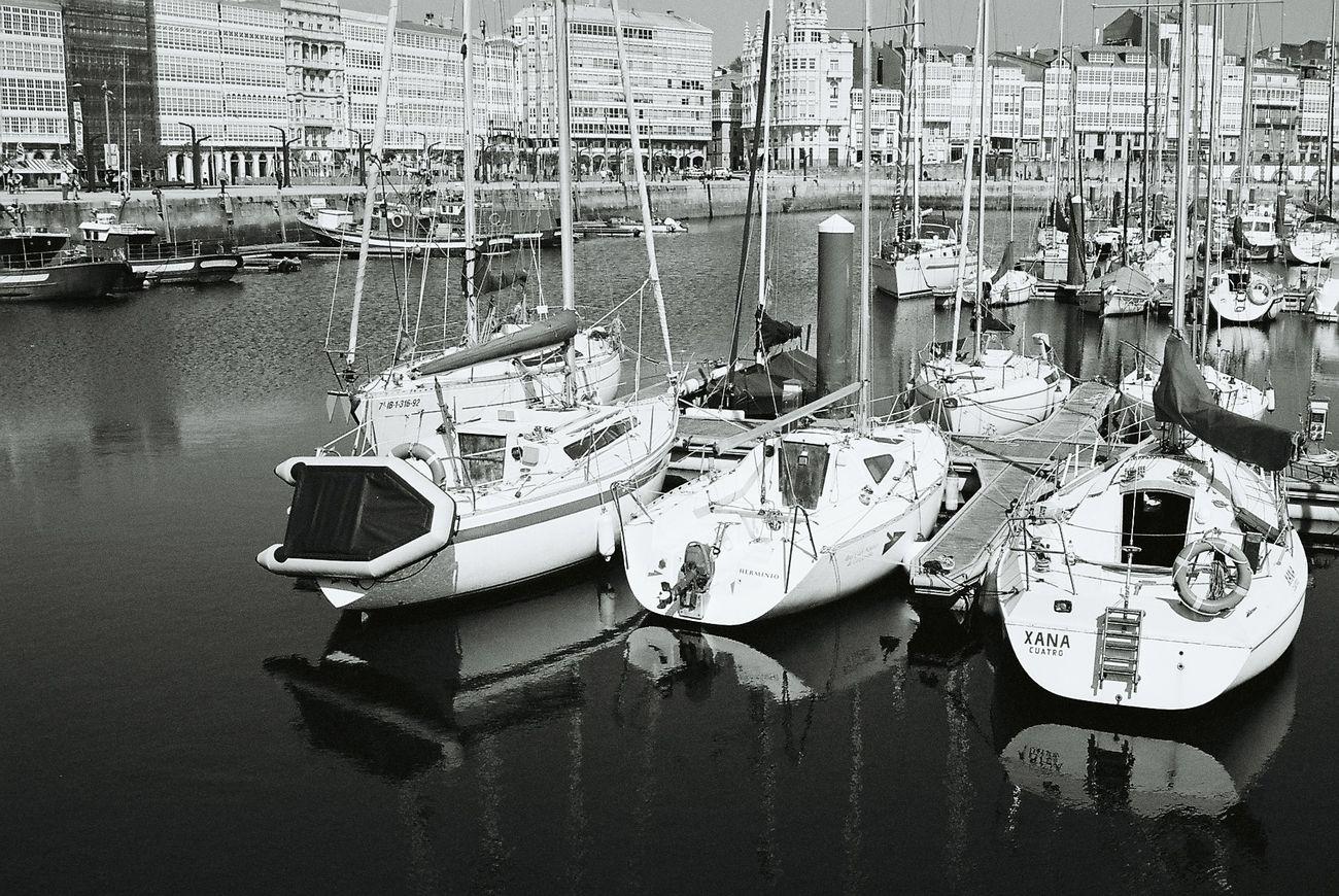 Real Club Nautico. A Coruña. Analogicphotography Yashicafx3super2000 Black And White Photography Monochrome Photography Blackandwhite Photography