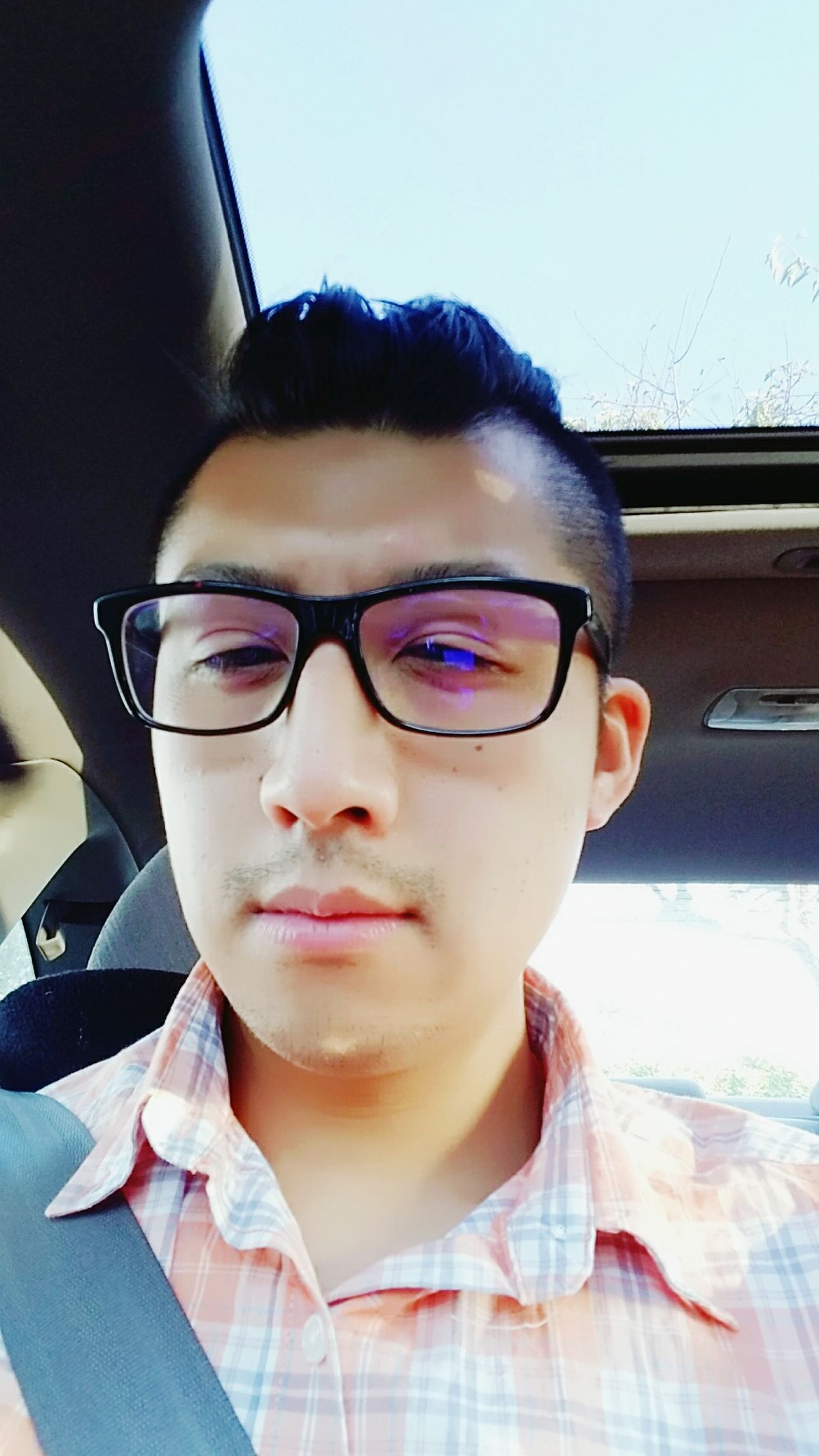 Another Selfie  Selfıe Glasses Specs Orange Plaid Plaid Shirt  Asian  Questioning HeadshotGUCCI GucciGlasses Amateurmodelling Handsome Smile Modeling Menhairstyles Angles Men Mensfashion Menhairstyle Mustache