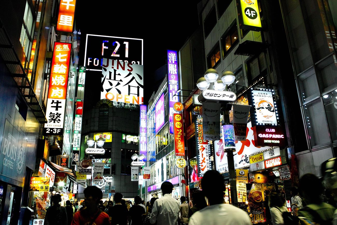 Illuminated Night Architecture Building Exterior Large Group Of People Advertisement City Built Structure City Life Travel Destinations Neon Walking Crowd Women Outdoors Nightlife Rush Hour People Modern Real People Eyeemphotography Nightphotography Japan Photography Night Lights EyeEm Best Shots