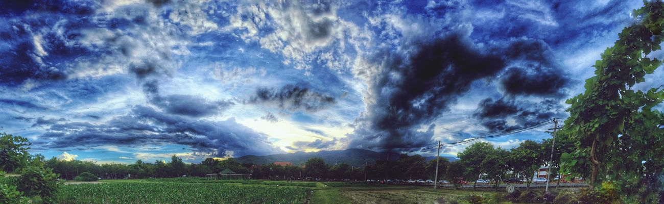Clouds And Sky Clouds Evening Sky Sunset Panorama Hills HDR IPhoneography