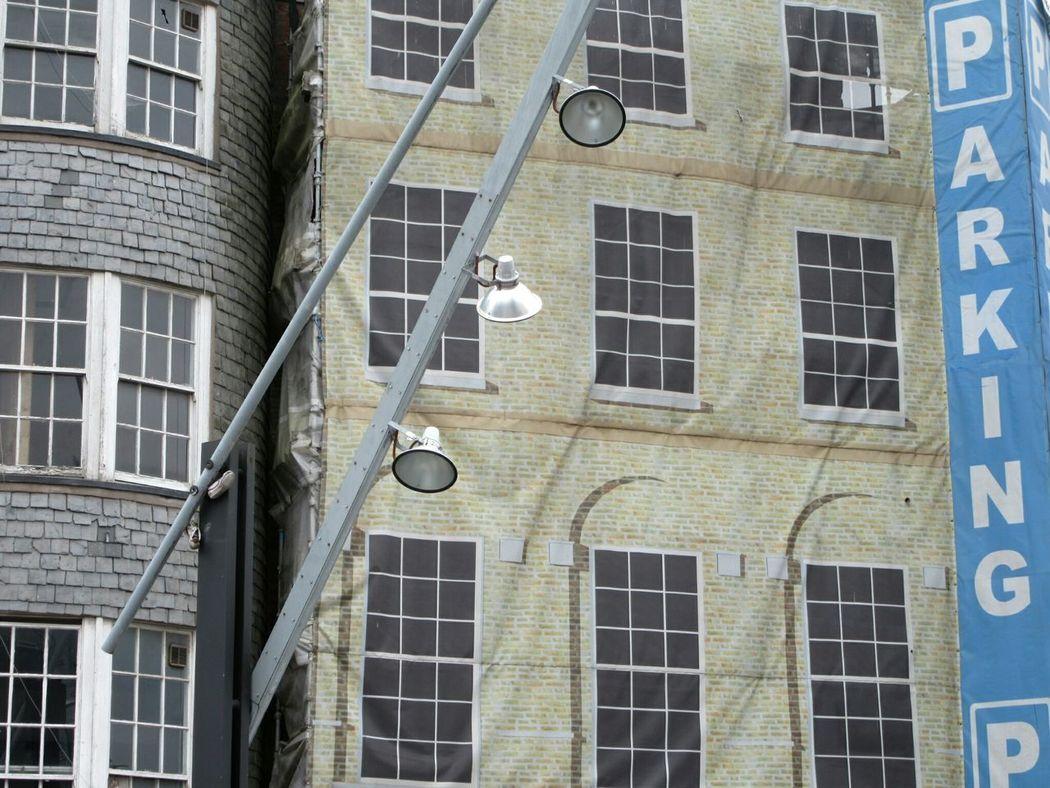 Fake facade Facades Urban Architecture 18th Century Slate Cladding Lamp Post Signage Cork City Ireland