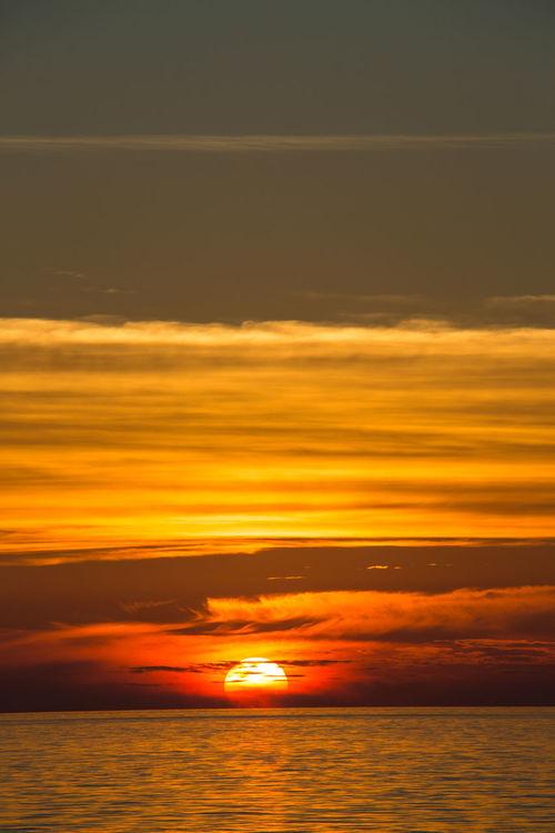 Stromboili, Italy Daylight Italy Mediteranian Coast Mediterranean Sea No People Sea And Sky Stromboli Stromboli Volcano Sunset Sunset Collection Sunset Colours