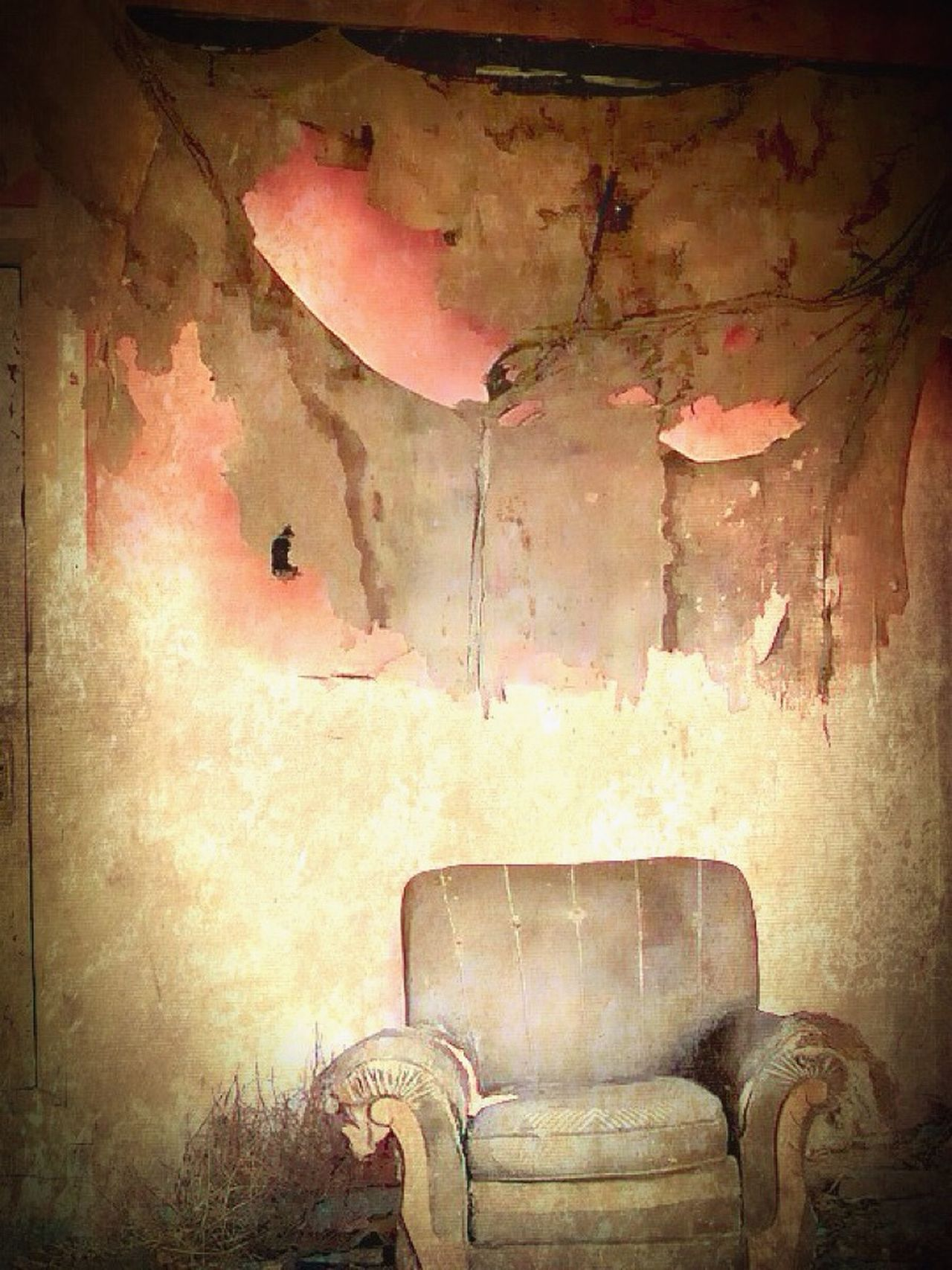 Abandoned Actual Colors Chair Creativity Deterioration Indoors  No People Textured