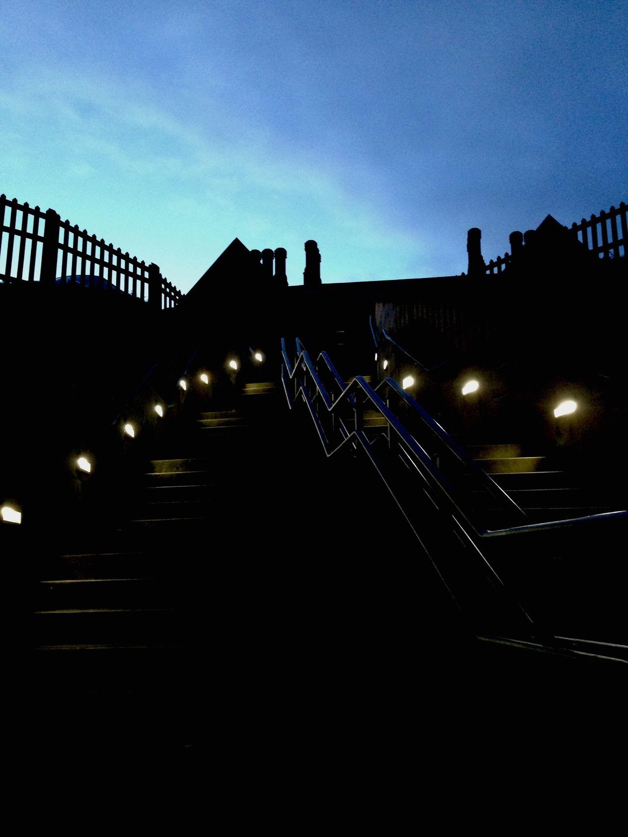 Sunset Silhouettes Durham Railway Station Durham