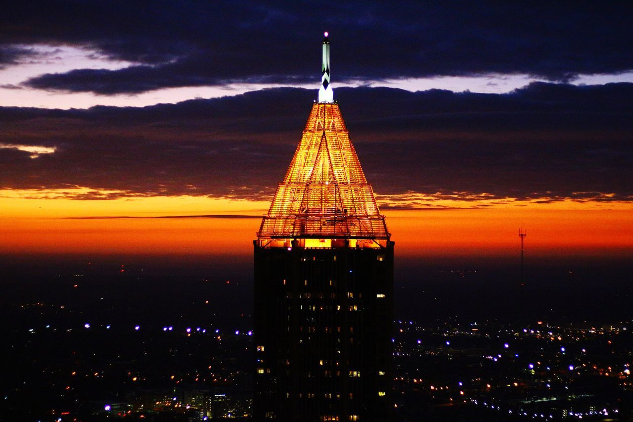 Dawn Structures Sky Cloud - Sky Sunset Outdoors Scenics Reflection No People City Architecture Cityscape Travel Destinations Backgrounds South Southern Tourism Georgia Vacation Atlanta High Angle View ATL EyeEmNewHere Aerialphotography Aerial Shot Flightview Illuminated EyeEmNewHere