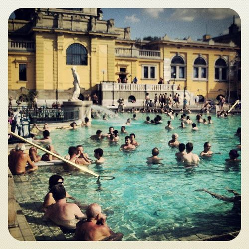 Just had a good afternoon at the Szechenyi bath.